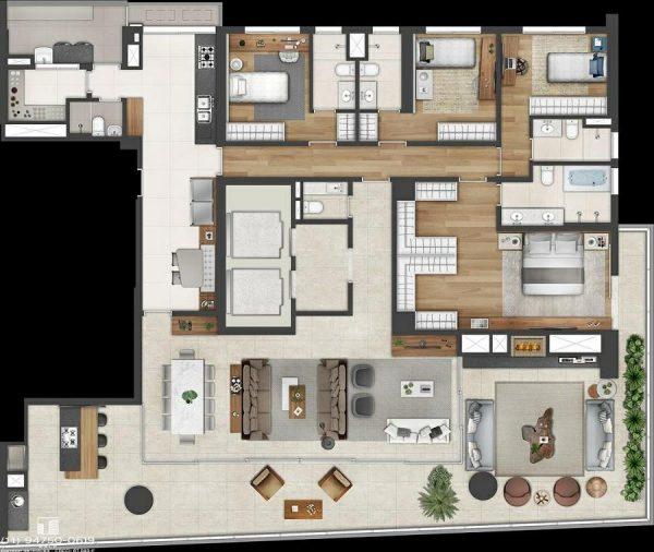 Lançamento Itaim Bibi apartamentos – Planta Endereço