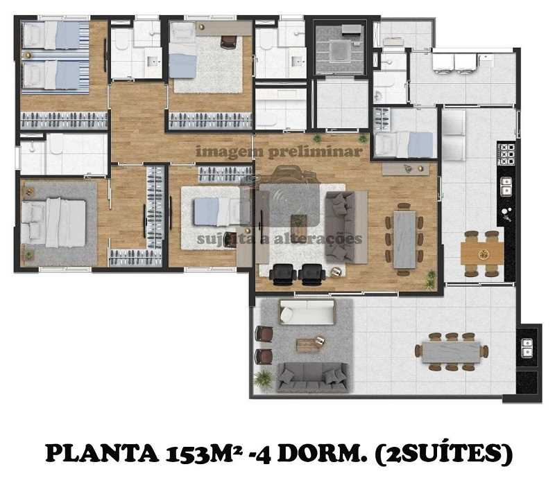 Planta Exclusiv Vila Mariana Dormitorios